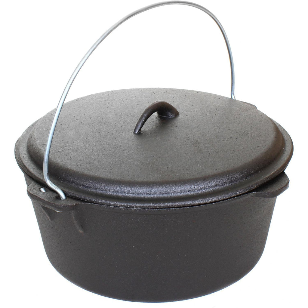 Cajun Classic Seasoned Cast Iron Dutch Oven Pot - 9 Quart
