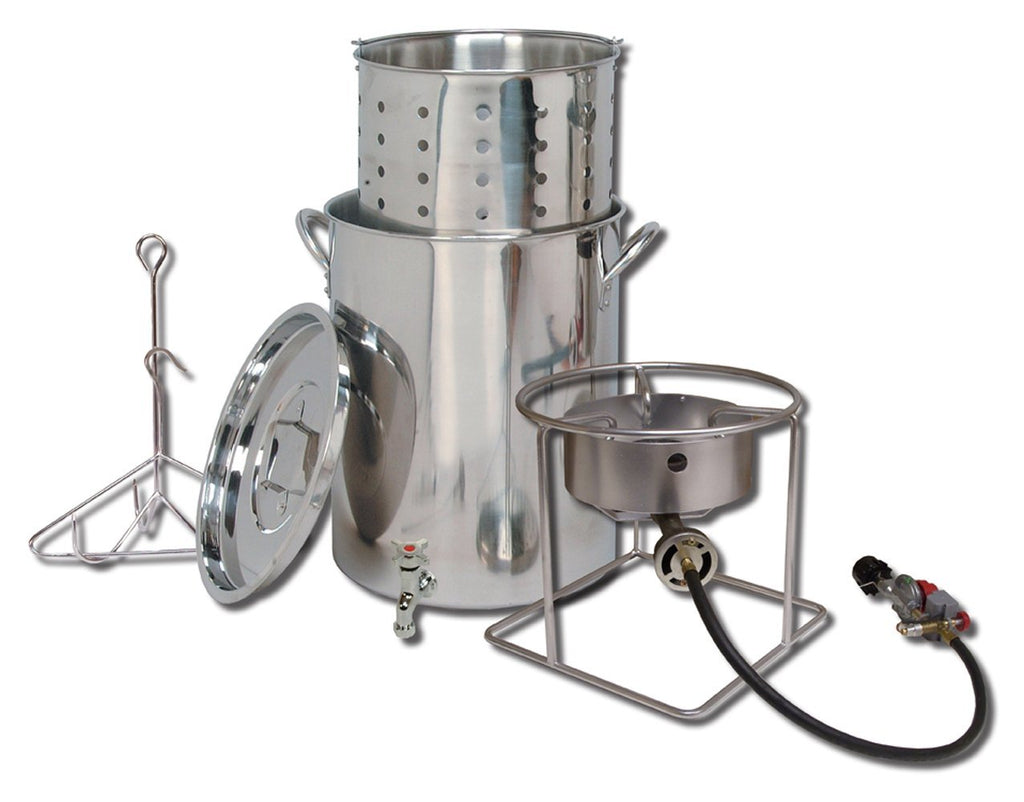 King Kooker Deluxe Stainless Steel Turkey Frying Kit