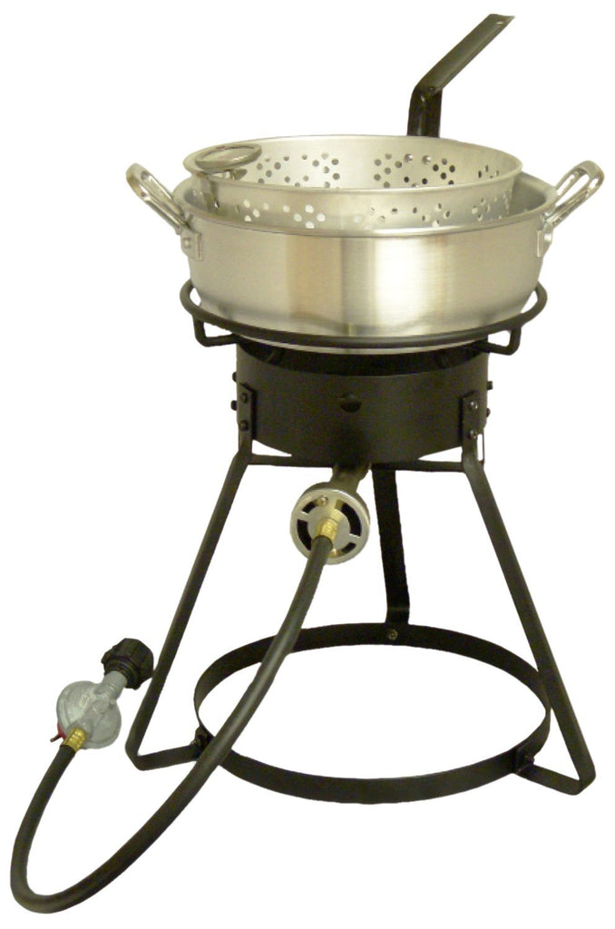 King Kooker Aluminum Pot Outdoor Fish Frying Cooking Kit