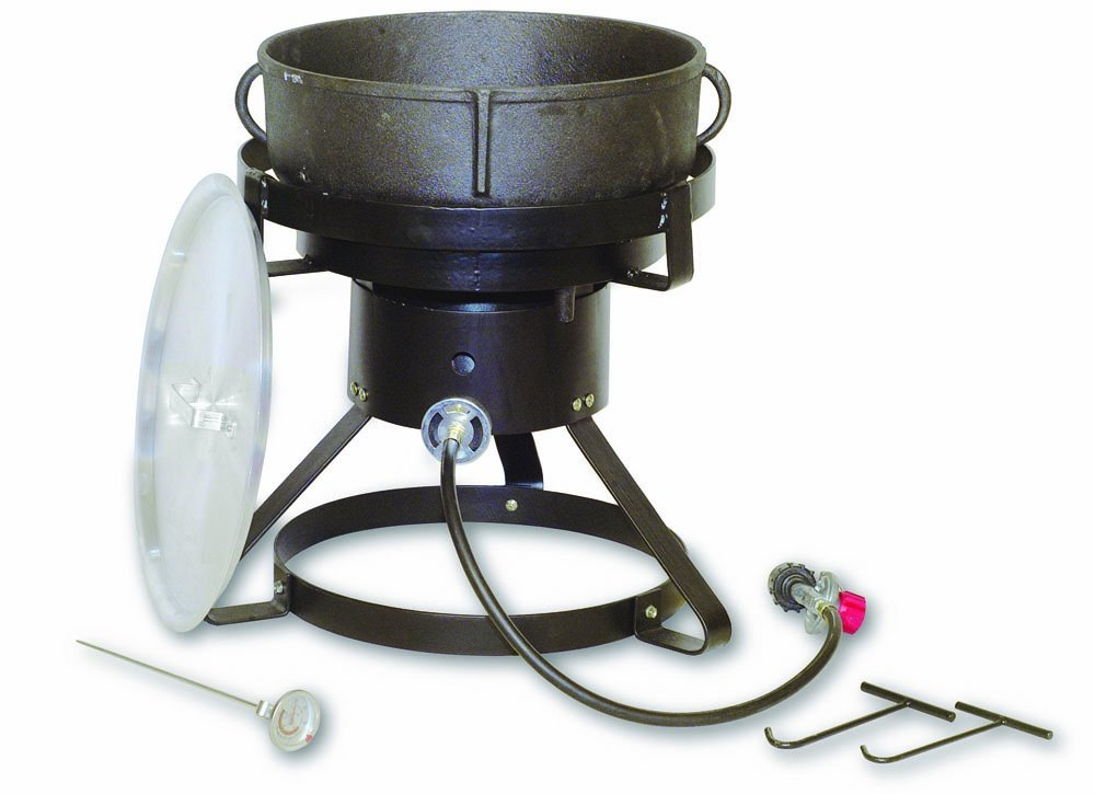 King Kooker 5 Gallon Cast Iron Jambalaya Pot Cooking Kit