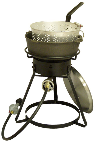 King Kooker Cast Iron Dutch Oven Outdoor Fish Frying Cooking Kit