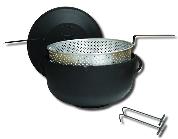 Flat Bottom Cast Iron Cooking Pot