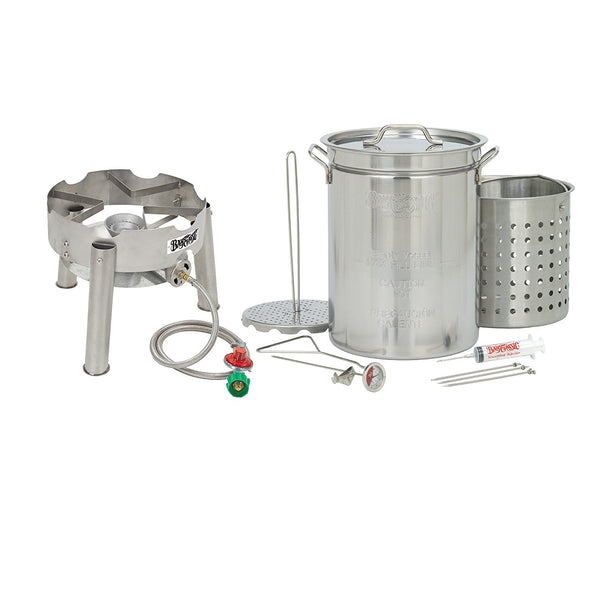 Bayou Classic 32 Quart Complete Stainless Steel Deluxe Turkey Fryer Kit