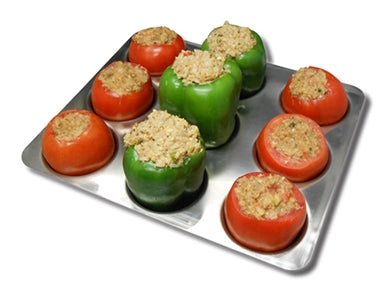 Stuffed Bell Pepper & Tomato Rack