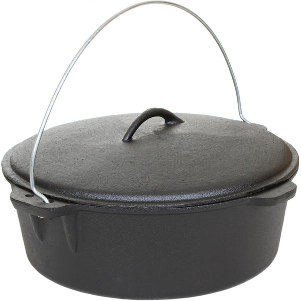 Cajun Classic Seasoned Cast Iron Dutch Oven Pot - 12 Quart