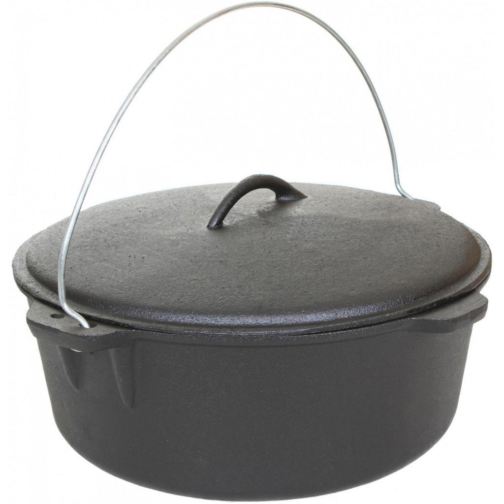 Cajun Classic Seasoned Cast Iron Dutch Oven Pot - 16 Quart