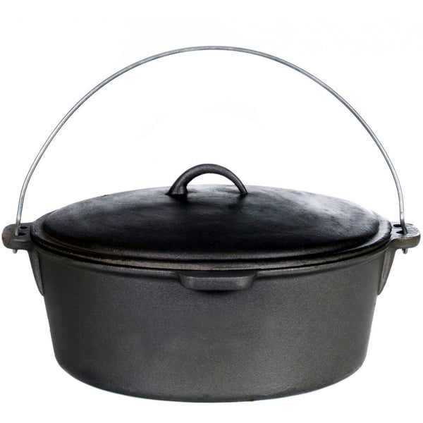 Cajun Classic Seasoned Cast Iron Dutch Oven Pot - 20 Quart