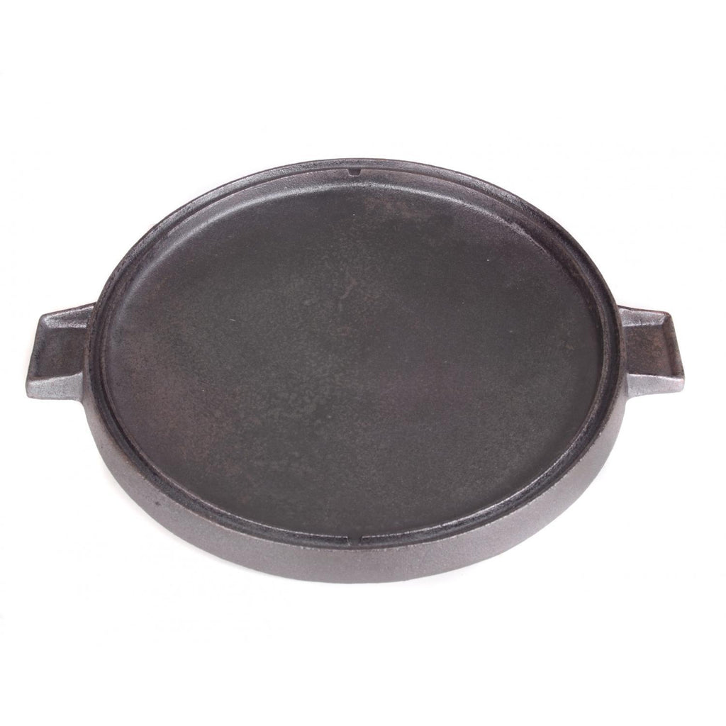Seasoned Round Reversible Cast Iron Griddle