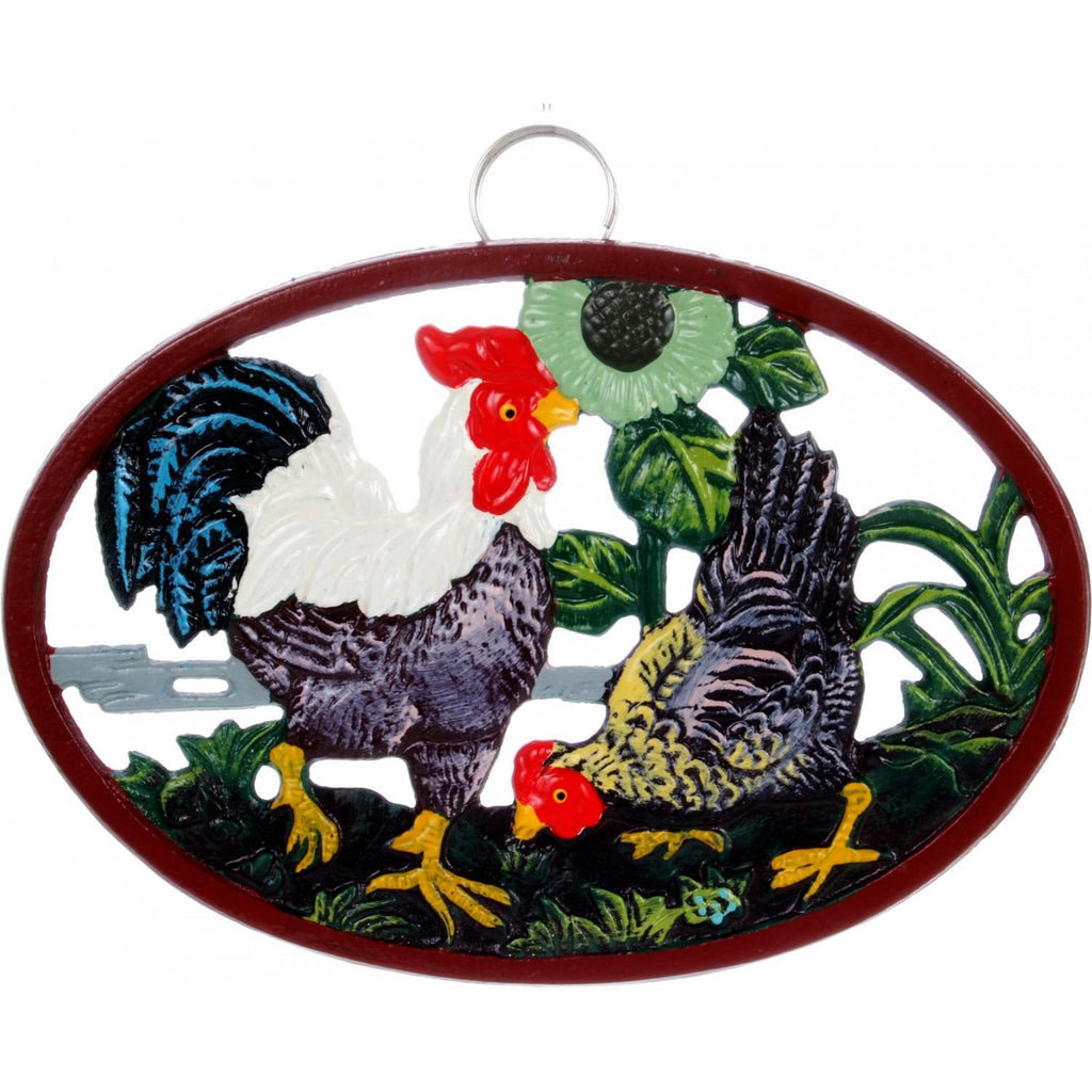 Decorative Rooster Cast Iron Trivit
