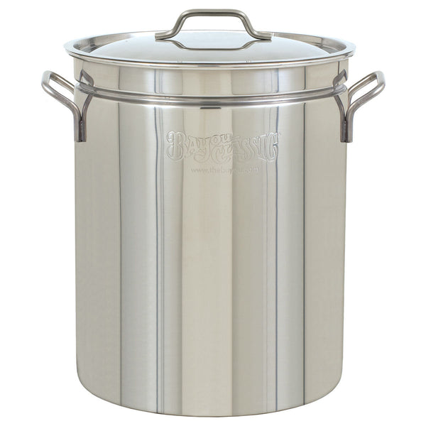 Bayou Classic 24 Qt Stainless Steel Pot & Lid 1024