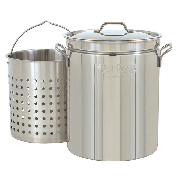 Bayou Classic 44 Quart Stainless Steel Stock Pot Kit
