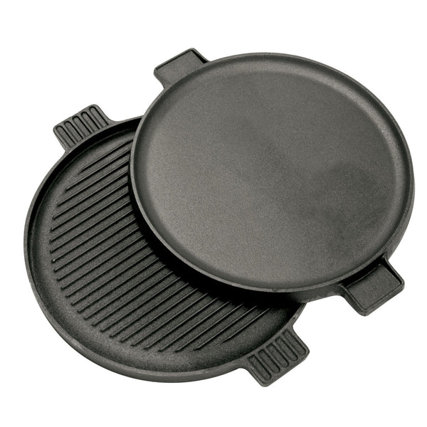 Bayou Classic Cast Iron Reversible Round Griddle