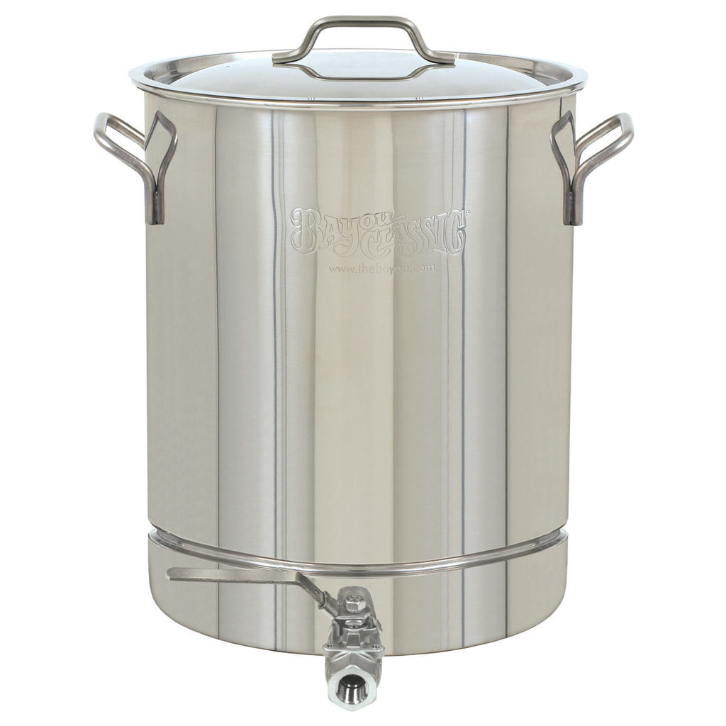 Bayou Classic 10 Gallon Stainless Steel Stock Pot with Spigot