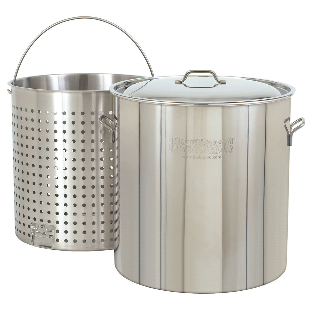 Bayou Classic 82 Quart Stainless Steel Stock Pot Kit 1182