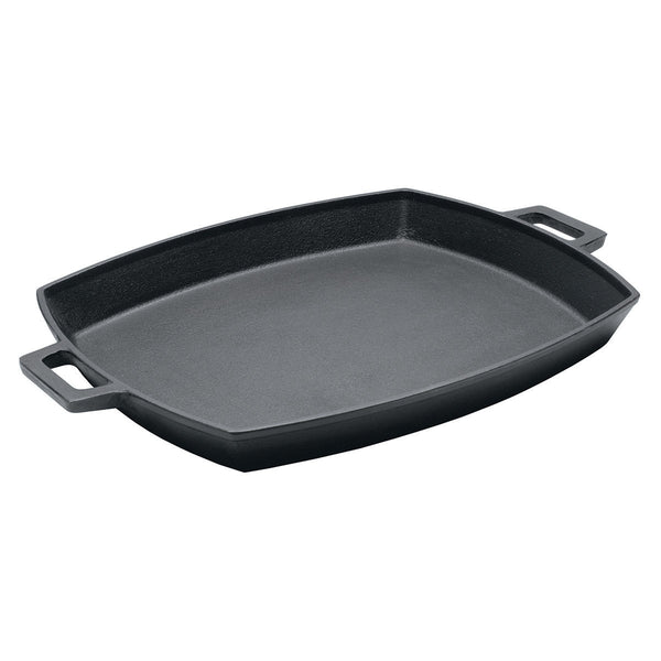 Bayou Classic Shallow Cast Iron Bacon Pan