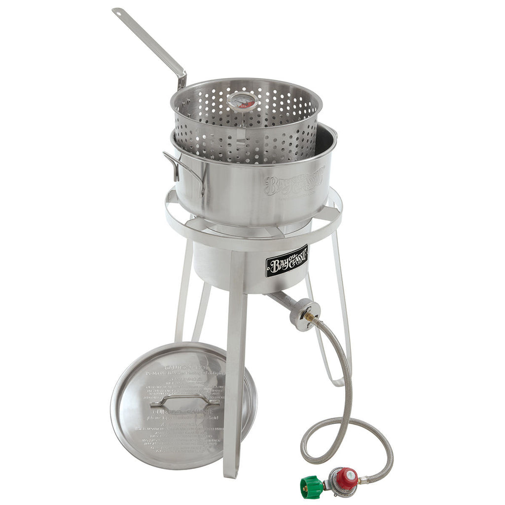 Attirant Bayou Classic Stainless Outdoor Cooker Fish Fryer