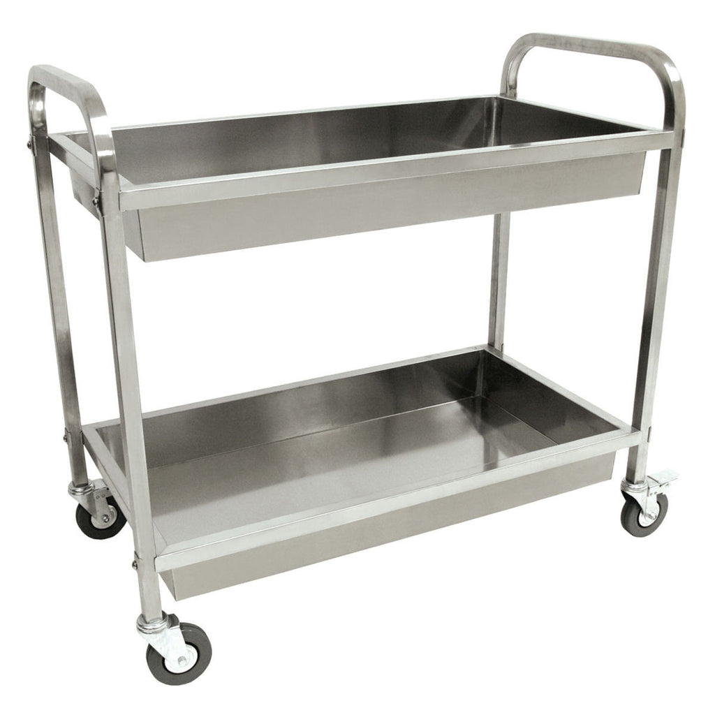 bayou classic stainless steel kitchen cart 4873 bayou classic depot rh bayouclassicdepot com kitchen cart with stainless steel top multiple finishes stainless steel kitchen cart canada