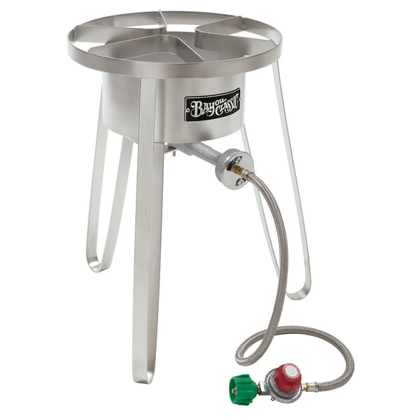 Bayou Classic Stainless Steel Tall High Pressure Propane Burner