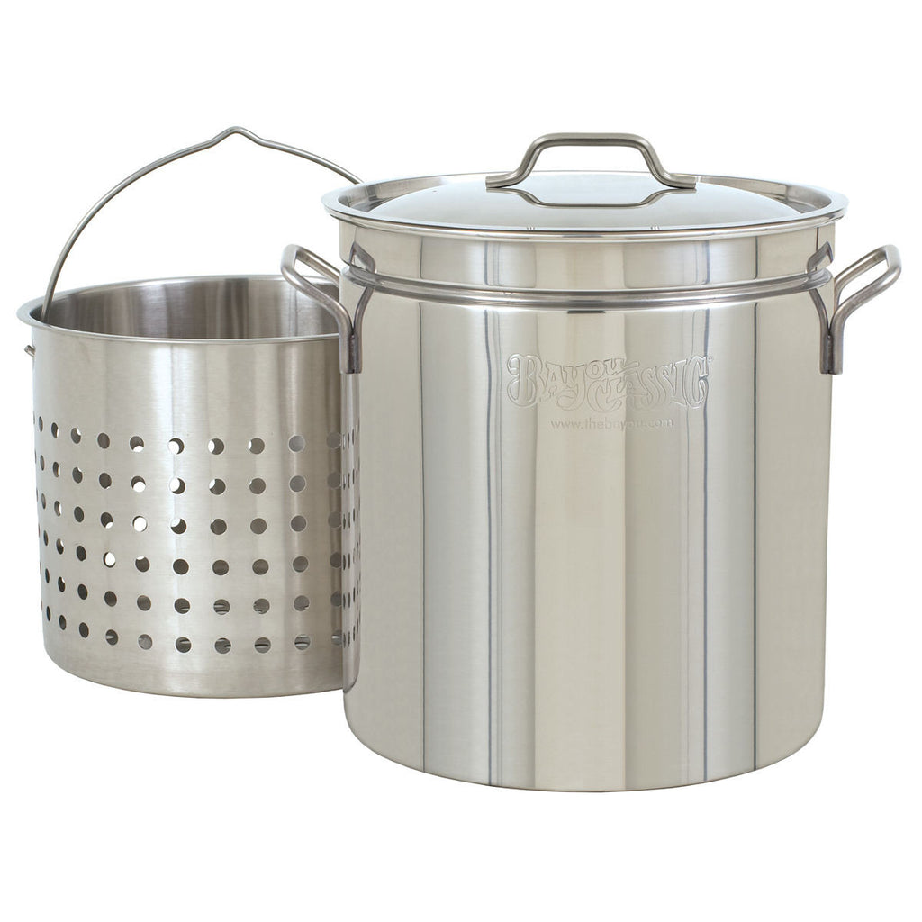 Bayou Classic 36 Quart Stainless Steel Stock Pot Kit