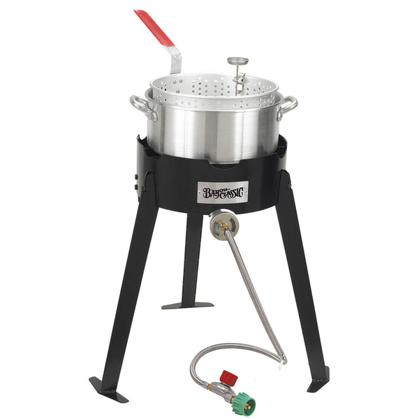 Bayou Classic Aluminum Deep Fryer Cooking Kit