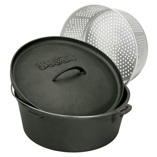 Bayou Classic 20 Quart Cast Iron Dutch Oven