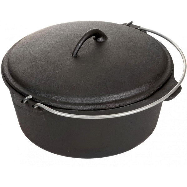 Cajun Classic Seasoned Cast Iron Dutch Oven Pot - 21 Quart