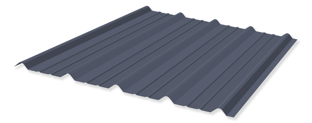 Tuff Rib 3ft wide Hawaiian Blue Metal Roofing Panel starting at 6ft lengths