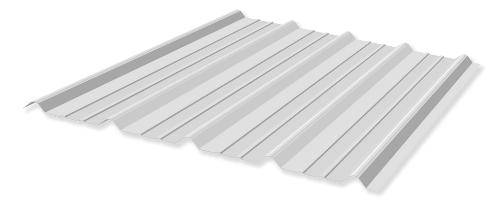 Tuff Rib 3ft wide Polar White Metal Roofing Panel starting at 6ft lengths