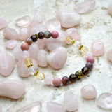 Survivor Bracelet Rose quartz domestic abuse legal advocacy center