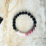 Love and Protection Diffuser Stretch Elastic Bracelet Set EMF Shungite