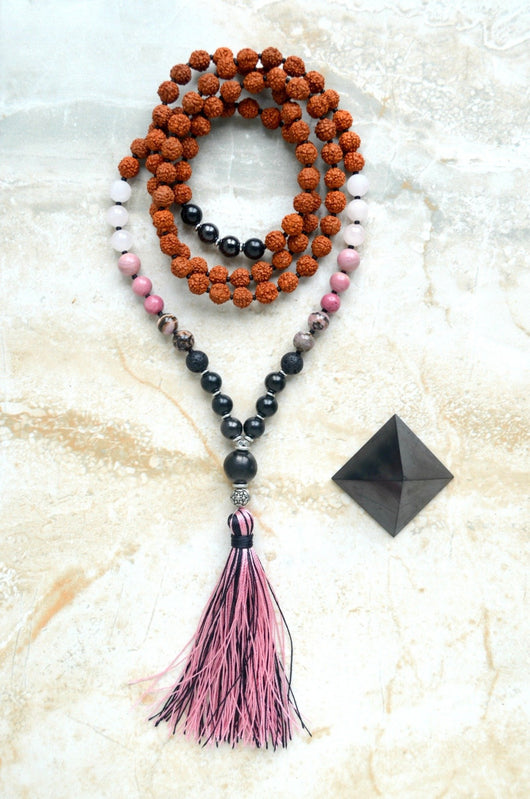 EMF Protection Mala Resilient Love Shungite