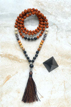 EMF Protection Mala Courage Shungite