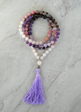 Heal My Heart Thrive Gemstone Meditation Mala
