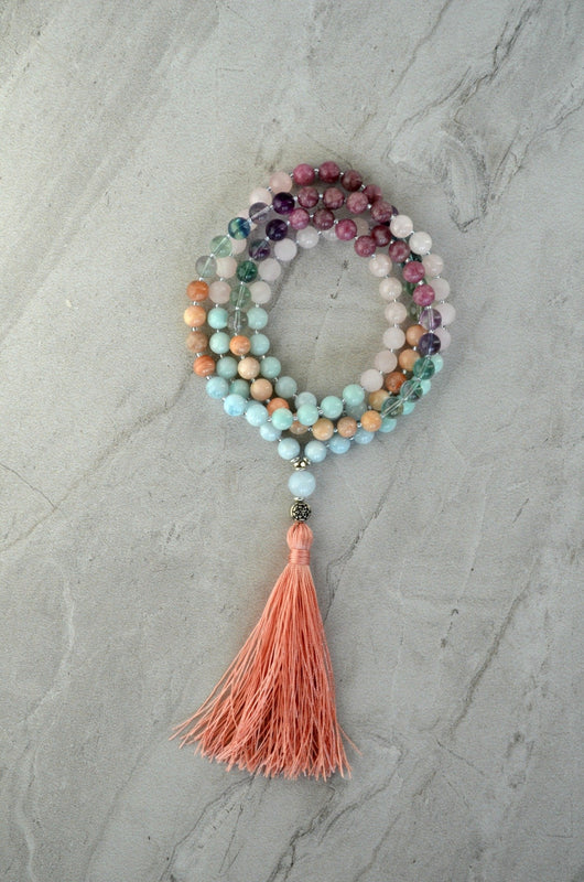 I Am Enough Gemstone Meditation Mala Thrive