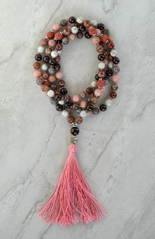 Worthy Essential Oil Diffuser Gemstone Meditation Mala