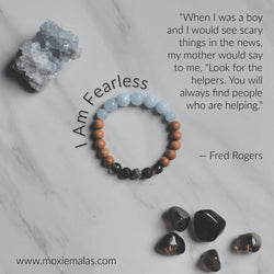 I am fearless face mask bracelet