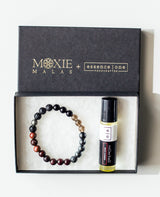 crown chakra bracelet and essential oil gift set