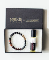 Third eye chakra bracelet and essential oil gift set