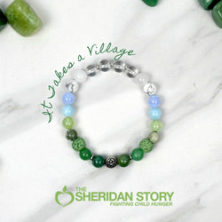 It Takes A Village Sheridan Story fundraiser bracelet