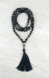 Steady Men's Intention Mala Hematite Shungite Onyx