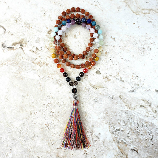 Pride rainbow mala love is love full chakra