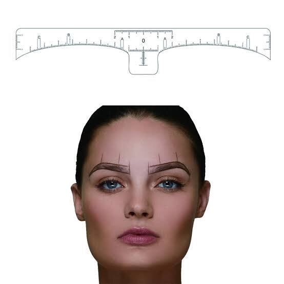 Eyebrow Measuring Sticker