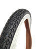 "26"" Comfort Tire, Black with White Sidewall"