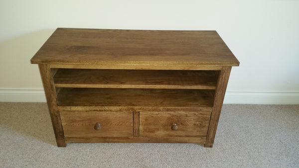 Dark Oak 900mm 2 drawer TV Unit, Cabinet , Stand or Hifi unit