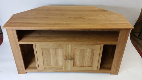 Extra special Corner TV Unit with speaker slots and cupboard