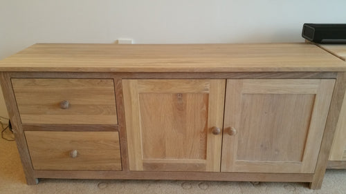 Extra Special TV Cabinets with light white Oak finish