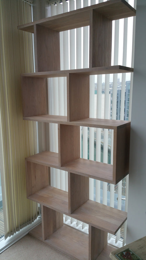 Oak display unit in 24mm high quality oak, fantastic in any lounge
