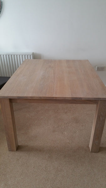 Oak kitchen or dining table with 24mm solid oak top.