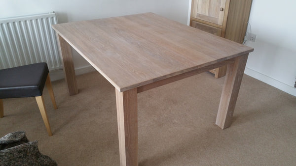 Tremendous Oak Kitchen Or Dining Table With 24Mm Solid Oak Top Home Interior And Landscaping Ologienasavecom