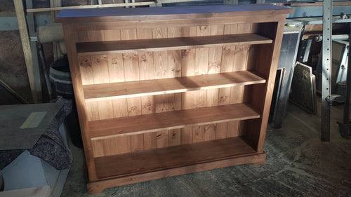 Workshop Discount Special - One only - Pine bookcase with 3 adjustable shelves